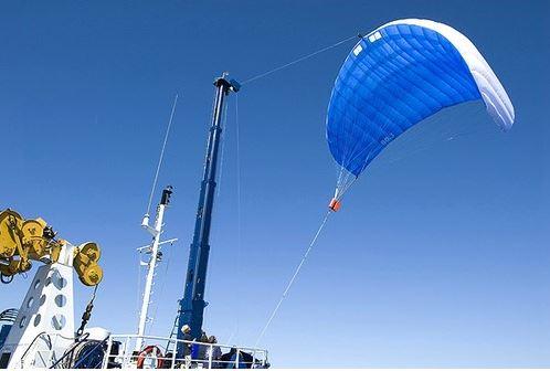 Obrázok 7 Výsuvný sťažeň padákovej plachty Zdroj: SkySails