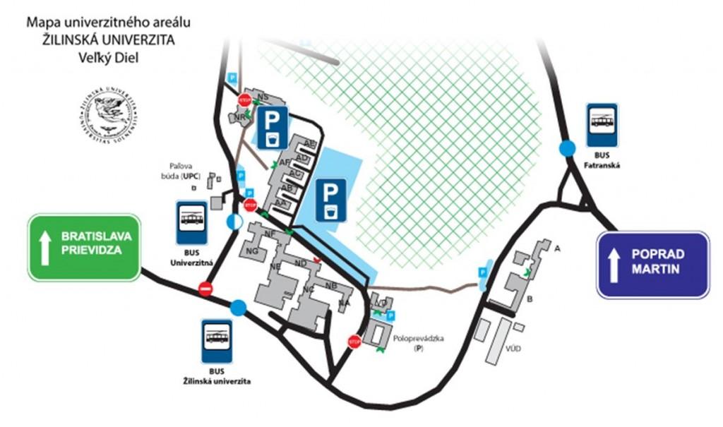 Obr. 1 Súčasné možnosti - prehľadová mapa záujmovej oblasti logistickej firmy