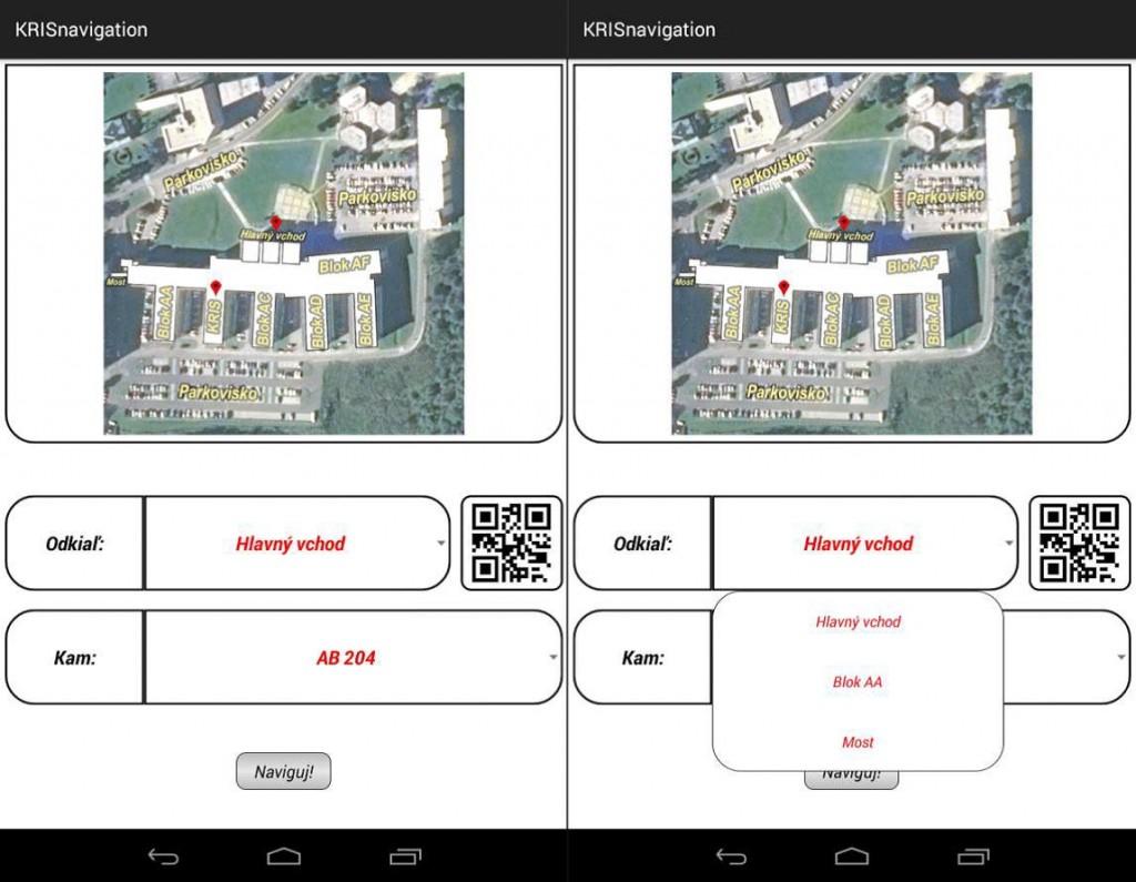 Obr. 7 Vstupná obrazovka navrhnutej IPS aplikácie