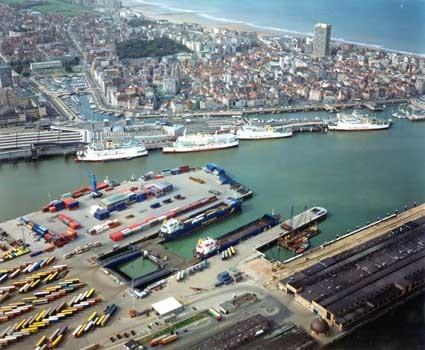 Obr. 3: Pohľad na prístavné polohy v prístave Oostende Zdroj: www.seanergyports.eu