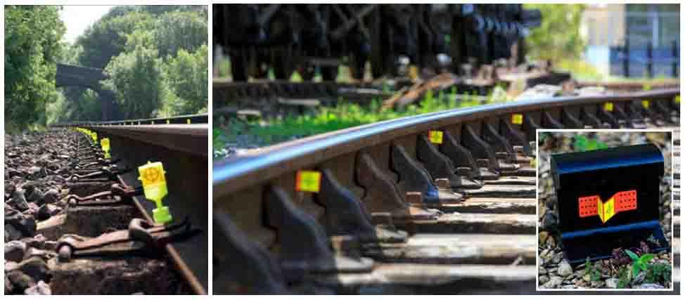 Obr. č. 5 Vzdialenostne rovnomerné rozmiestnenie vysoko reflexných prvkov na železničnej infraštruktúre. Zdroj: spracované autormi podľa [10]