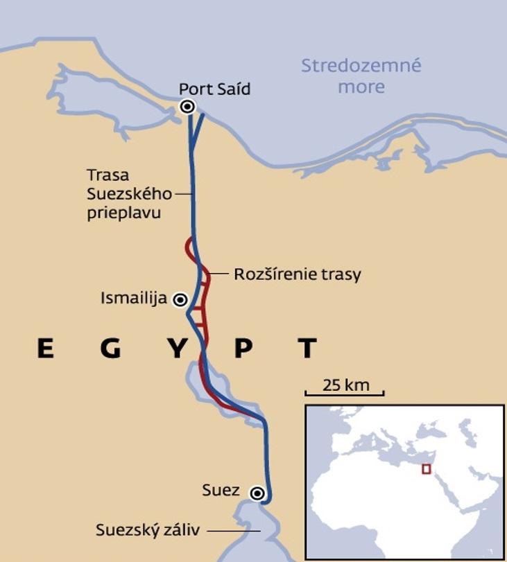 Obr. 4 Rozšírenie Suezského prieplavu - zdroj: [9]