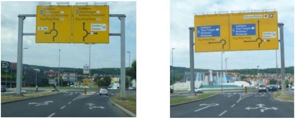 Obr. 3 Dopravné značenie na TOK (Koper, Slovinsko). Zdroj: autor