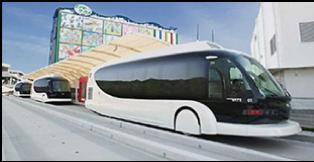 obr.2. FCHV - Bus 2 – mestské dopravné prostriedky riadené autopilotom s vylúčením vplyvu ľudského faktora na bezpečnosť dopravy. Dizajn: Toyota