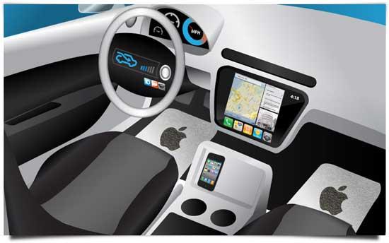 obr. 10 Interiér elektromobilu Apple Titan