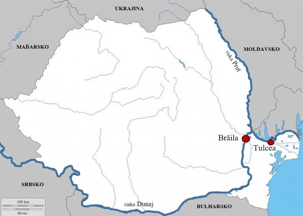 Obrázok 4: Povodie rieky Dunaj na území Rumunska zdroj: autori