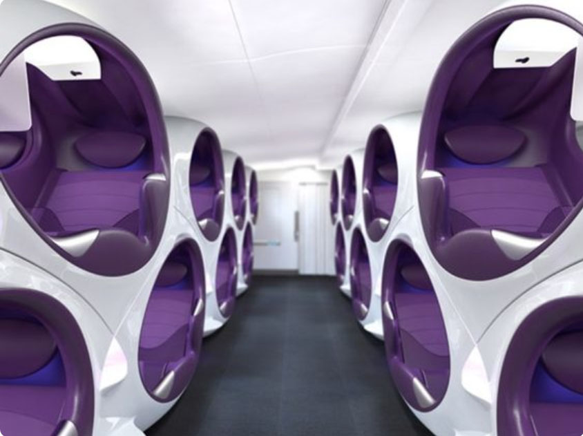 obr.8 štúdia sedadla Air Lair od Contour Aerospace a Factory Design