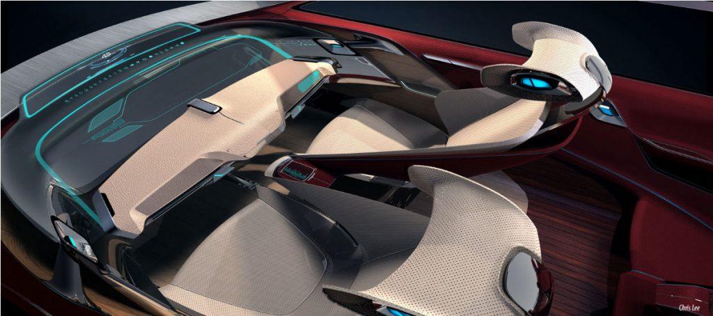 obr. 2 štúdia sedadla pre BMW i 7