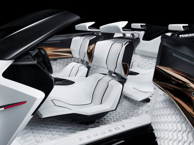 obr. 4 štúdia sedadla pre Peugeot Fractal