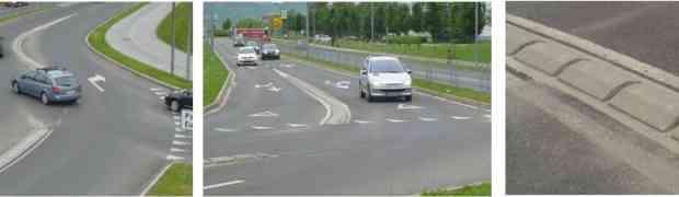 Prínos fyzického oddelenia jazdných pruhov z hľadiska bezpečnosti a kapacity turbo-okružných križovatiek